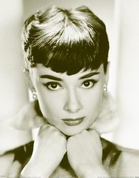 Audrey Hepburn - sepia - плакат (poster)