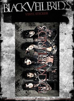 BLACK VEIL BRIDES – group landscape - Aufkleber