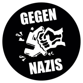 GEGEN NAZIS  - Aufkleber