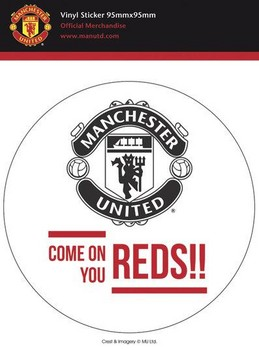 Sticker MAN UNITED – come on