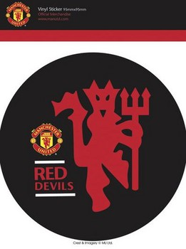 MAN UNITED - red devils - Aufkleber