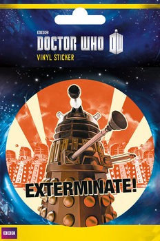 Doctor Who - Exterminate Autocolant