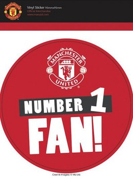 MAN UNITED – no 1 fans Autocolant