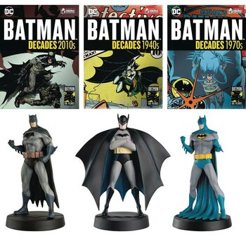 Figurine Batman Decades - Debut, 1970, 2010 (Set of 3)