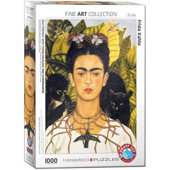 Puzzle Frida Kahlo - Self-Portrait with Hummingbird