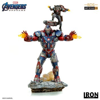 Figurine Avengers: Endgame - Iron Patriot & Rocket