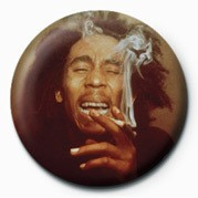 BOB MARLEY - laugh Badge