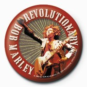 BOB MARLEY - revolutionary Badge