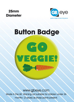 GO VEGGIE Badge