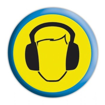 HEADPHONES Badge