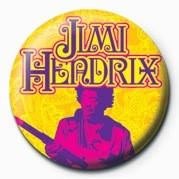 JIMI HENDRIX (GOLD) Badge