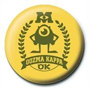 MONSTERS UNIVERSITY - oozma kappa Badge