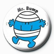 MR MEN (Mr Bump) Badge