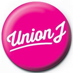 UNION J - pink logo Badge
