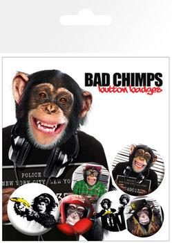BAD CHIMPS Badges pakke