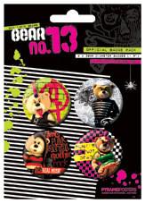 BEAR13 - Bad taste bears Badges pakke