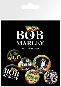 BOB MARLEY - logos Badges pakke