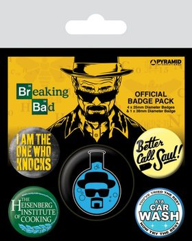 Breaking Bad - Heisenberg Flask Badges pakke