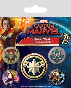 Captain Marvel - Patches Badges pakke