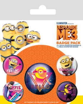 Despicable Me (Dumma mej) 3 - 80´s Vibe Badges pakke