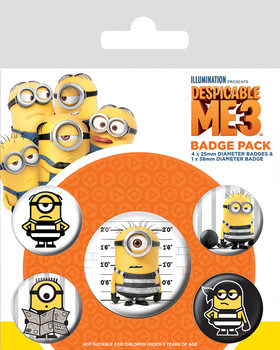 Despicable Me (Dumma mej) 3 - It's So Fluffy Badges pakke