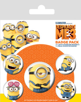 Despicable Me (Dumma mej) 3 - Minions Badges pakke