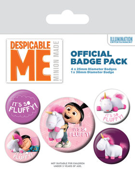 Despicable Me (Dumma mej) - It's So Fluffy Badges pakke