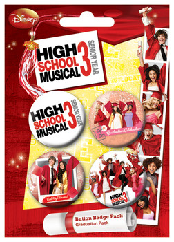 HSM3 - Graduation Badges pakke