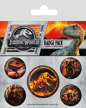 Jurassic World Fallen Kingdom Badges pakke