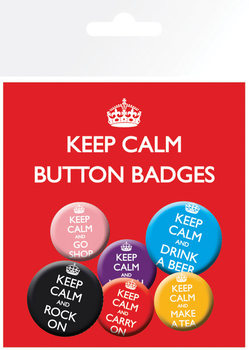 KEEP CALM Badges pakke