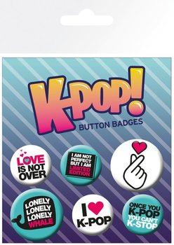 KPOP - Quotes Badges pakke