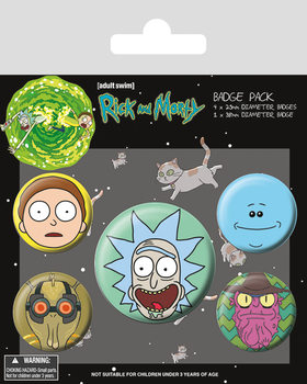 Rick and Morty - Heads Badges pakke