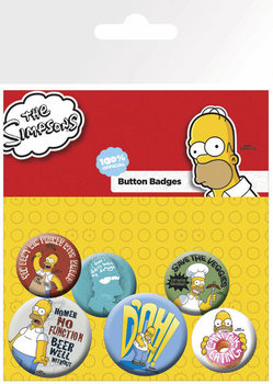 SIMPSONS Badges pakke