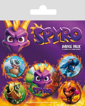 Spyro - Reignited Characters Badges pakke