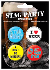 STAG PARTY Badges pakke