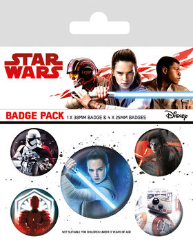 Star Wars: Episode 8 The last Jedi - Characters Badges pakke