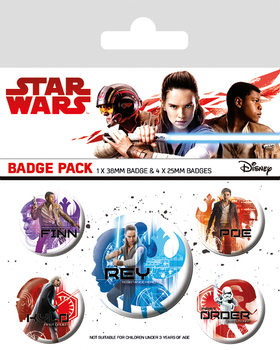 Star Wars: Episode 8 The last Jedi - Icons Badges pakke