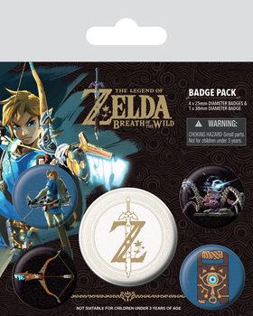 The Legend of Zelda: Breath Of The Wild - Z Emblem Badges pakke