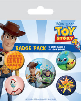 Toy Story 4 - Friends for Life Badges pakke