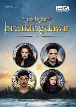 TWILIGHT BREAKING DAWN 2 Badges pakke