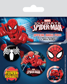 Ultimate Spider-Man Badges pakke
