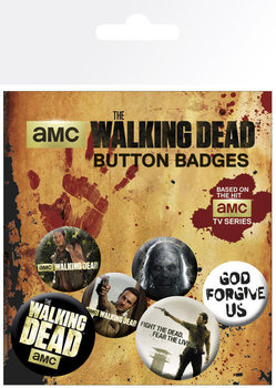 WALKING DEAD Badges pakke