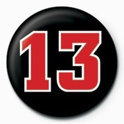 13 NUMBER Badge