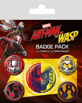 Set de badges Ant-Man and The Wasp