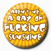 AREN'T WE A RAY OF FUCKING Badge
