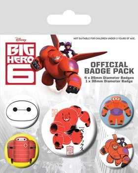 Badge sæt Big Hero 6 - Baymax