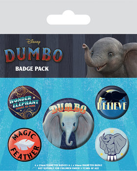 Badge sæt Dumbo - The Flying Elephant