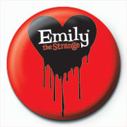 Emily The Strange - logo Badges