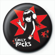 Emily The Strange - rocks Badges