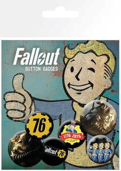 Set de badges Fallout 76 - T51b